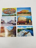 Lot of 6 Idaho Falls Idaho Park Ave Street Scene Store Fronts Vintage Postcard