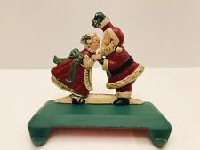 Midwest Importers Vintage Santa and Mrs Claus with Mistletoe Stocking Holder