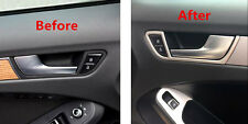 Stainless Interior Door Handle Bowl Cover Trim 4pcs for Audi A4 B8 2008-2015