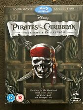 Pirates of the Caribbean 1-4 Movie Collection Blu-ray [2011] Johnny Depp Disney