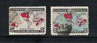 Canada stamps #85 & 86, used, SCV $18