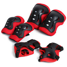 Red  Kid Roller Skating Skateboard Knee Elbow Wrist Protective Guard Pad Gear