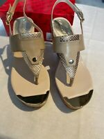 Guess Magli2 Platform T Strap Sandals Size 8 M