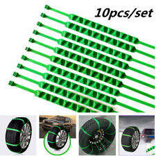 Green Reusable Nylon Car Tire Chain Emergency Winter Wheel Zip Tie Belt Strap