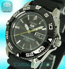 New SEIKO 5 SPORTS 100m AUTOMATIC MEN'S RUBBER STRAP MID SIZE SNZB23J2