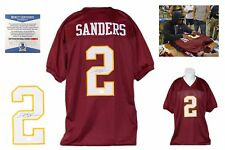Deion Sanders Autographed SIGNED Jersey - Beckett Authentic w/ Photo - Burgundy