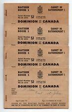 Canada World War II WWII Ration Book 1 - 4 Consecutive Issues Saint John NB