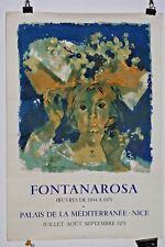 Affiche Lithographie 1973 Fontanarosa Nice Mourlot
