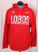 New Mexico University Lobos Nike Therma-Fit Pullover Sweatshirt Hoodie Men's L
