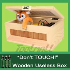 Useless Box Leave Me Alone Box Wooden Machine Don't Touch Tiger Toy No Sound