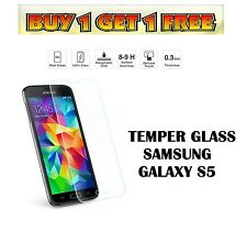 GENUINE TEMPER GLASS ANTI SHOCK SHATTER SCREEN PROTECTOR FOR SAMSUNG GALAXY S5
