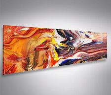 Bild auf Leinwand Farbe Struktur Gemälde-Style Abstrakt Panorama Wandbild