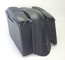 "Harley Davidson 4"" Saddlebags Rear Fender with 2-1 Cutout 6x9 #2 Speaker Lids"