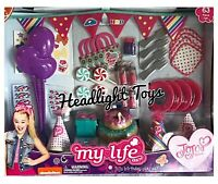 "Rare Exclusive JoJo Siwa My Life As 63 Pc Birthday Party Playset For 18"" Dolls"