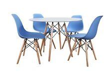 Conjunto de Mesa Wad2 100 + 4 sillas Tower azules