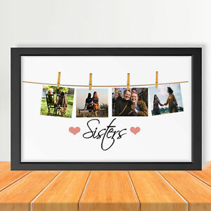 Sister Photo Frame, Family Picture Frame, Sisters Frame wall art, Wall Hanging,