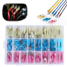 250pcs Heat Shrink Ring Butts Insulated Terminals Electrical Wire Connector Kit