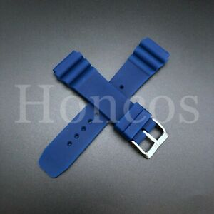 NEW 22MM BLUE RUBBER STRAP Z22 FITS SEIKO SKX007 / 7002 / 6309 DIVER'S WATCH
