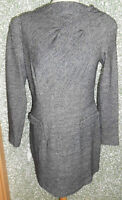 20 70/11 Blacky Dress Damen Kleid Gr. 40 schwarz grau meliert langarm Stretch