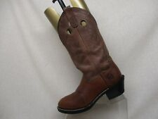 Double H Brown All Leather Buckaroo Stockman Cowboy Boots Mens Size 8 D DH3560
