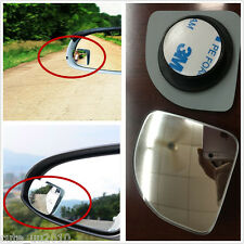 2 Pcs Auto Clear Wide Angle Adjustable Rearview Side Blind Spot Sector Mirror