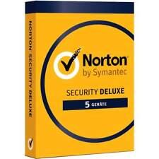 NORTON SECURITY 3.0 2017 * 5 PC Lizenz * DELUXE * Vollversion * Lizenz