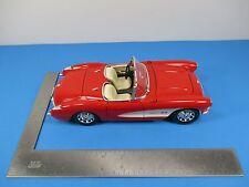 Burago 1957 Chevrolet Corvette Red & White 1/18 Scale Made Italy Doors Open VS7