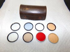 Set of 8 Tiffen Lens Filters In Case SHIPS FREE!