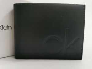 Calvin Klein Mens Bifold Wallet - Black - Faux Leather - New In Box - RRP £55