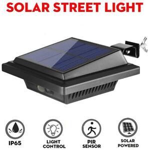 Solarstrahler Dachrinnenleuchte mit 25LEDs-Bewegungsmelder Sensor Außen Wandlamp