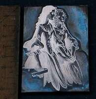 ZWEI DAMEN Galvano Druckplatte Klischee Eichenberg printing plate copper print