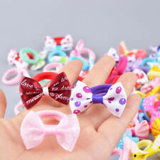 10Pcs Bow Girl Hair Ring Rope Elastic Rubber Ponytail Bands Hair Accessories