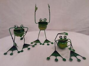 Frog ornament sitting, standing, happy smiley frog, frog statue, figurine