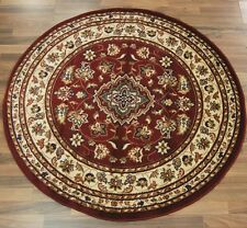 Flair Rugs Sincerity Sherborne Round Rug Red 133cm Diameter