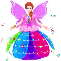 Girl Dancing Princess Multifunctional Music Doll LED Pet Electronic Robot Toy
