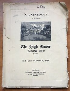1949 Sale Catalogue for The High House, Campsea Ashe, Suffolk