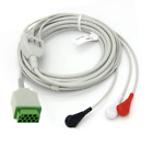 GE Dash 5000 11 Pin 3 Leads Snap ECG Cable - Same Day Shipping