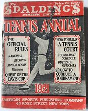 1921 Spalding's   Lawn Tennis Annual Bill Tilden Cover