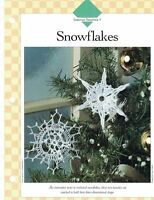 Christmas Snowflake Ornaments Crochet Single Pattern Vanna White Holiday Decor