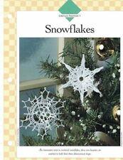 Christmas Snowflake Ornaments Crochet Single Pattern Vanna White Holiday Decor