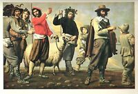 "1960 Art Print ""The Procession Of The Ram"" by Louis & Mathieu Le Nain Free Ship"
