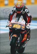 Alvaro BAUTISTA Moto GP Signed HONDA SAN CARLO Autograph 12x8 Photo AFTAL COA