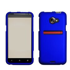 SPRINT HTC EVO 4G LTE SNAP ON HARD CASE NAVY BLUE
