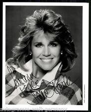 Jane Fonda top photo orig. sign. entre autres, le bleu de oiseau + G 8228