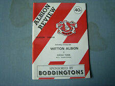 WITTON ALBION v GOOLE TOWN North Prem Div 1988-89 last season at Central Ground