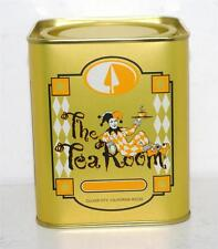 NEW Pierrot's THE TEA ROOM Harlequin Jester EMPTY Tin Box Container Canister 3+""