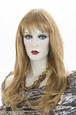 Long, Wavy, Softly Layered Style Blonde Brunette Red Straight Wigs With Bangs