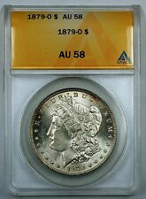 1879-O Morgan Silver Dollar Coin, ANACS AU-58, Toned, JT