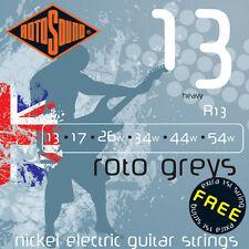 Rotosound R13 Roto Greys Elec Guitar strings 13-54w heavy gauge