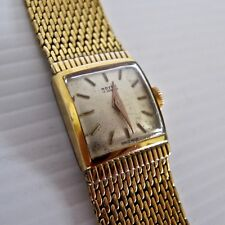 Royce Swiss Ladies Mechanical Wristwatch, Gold Plate Case & Band, Working c.'50s